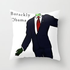 Barackly Obama Throw Pillow