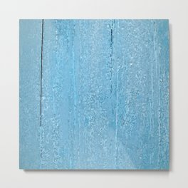 Blue wood Metal Print