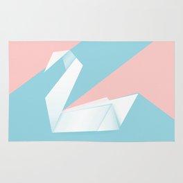 Simple origami swan Rug