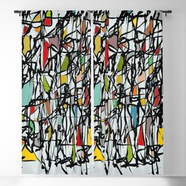 Abstract Composition 718 Blackout Curtain