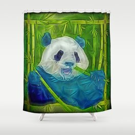abstract panda Shower Curtain