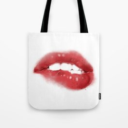 Sexy Red Hot Lips Tote Bag