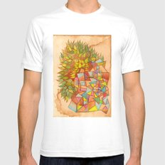 Plantas y cristales Mens Fitted Tee SMALL White
