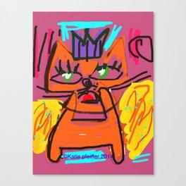 Pop Art Angel Cat Canvas Print