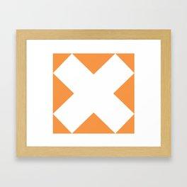 X WHITE Framed Art Print