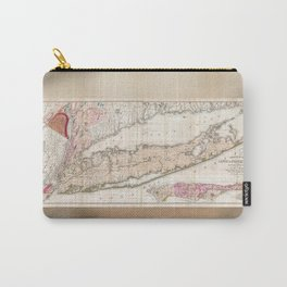 1842 Map of Long Island, New York Carry-All Pouch