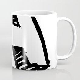A Letter as Marker Sketch in Black Coffee Mug