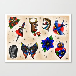 Traditional Flash Sheet 2 Canvas Print