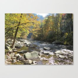 Autumn on the Little Rover Canvas Print