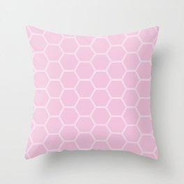Honeycomb - Light Pink #326 Throw Pillow