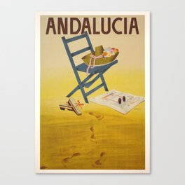 Andalucia Spain - Vintage Travel Posters Canvas Print