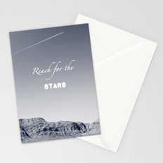 Reach for the Stars (b&w)  Stationery Cards