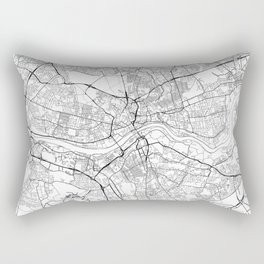 Newcastle Upon Tyne Map White Rectangular Pillow