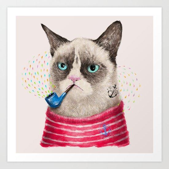 Sailor Cat II Art Print