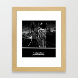 now thats just rude Framed Art Print