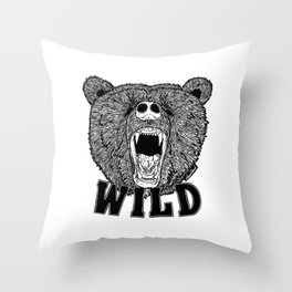 Bear Wild Throw Pillow