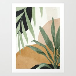 Abstract Art Tropical Leaves 4 Art Print
