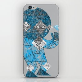 mesmerized by the light blue diamond iPhone Skin