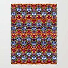 Batik Rainbow Zigzags Poster
