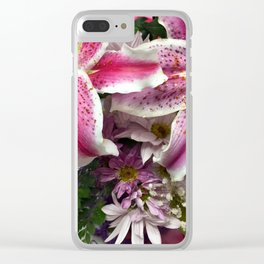 Star gazer lily bouquet Clear iPhone Case