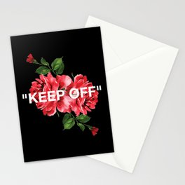 Keep Off White – Roses Stationery Cards