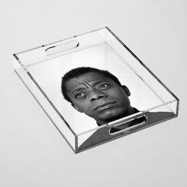 James Baldwin Acrylic Tray