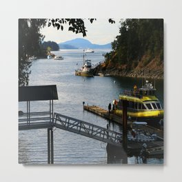 Harbour at Butchart´s Garden Metal Print