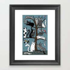 CAT TREE Framed Art Print