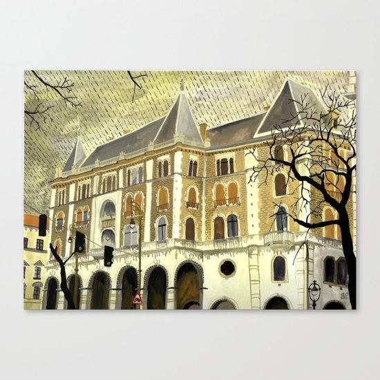 Grey day (Budapest) Canvas Print