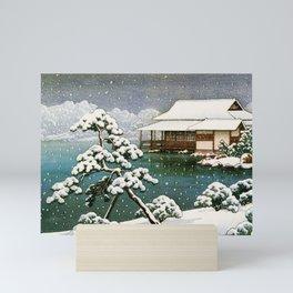 12,000pixel-500dpi - Kawase Hasui - Snow In The Seichoen - Digital Remastered Edition Mini Art Print