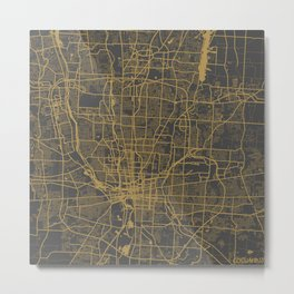Columbus map Metal Print
