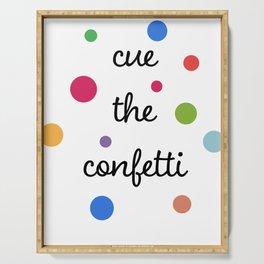 Cue the Confetti Serving Tray
