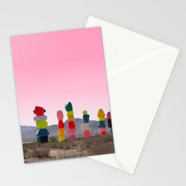 Seven Magic Mountains with Pink Sky - Las Vegas Stationery Cards