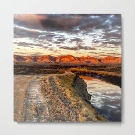 Mt Garfield at Sunset Metal Print