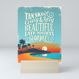Crazy & lazy Summer Mini Art Print