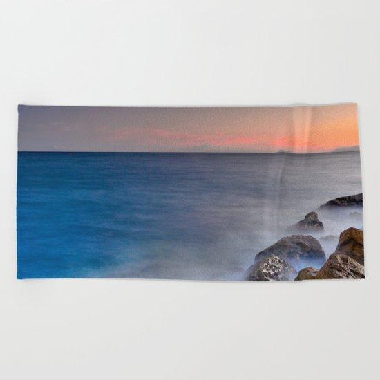 """""""The struggle of the sea"""" Beach Towel"""