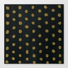 GOLD DOTS Canvas Print