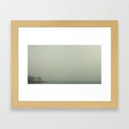 Fog on Lake Ontario (Toronto) Framed Art Print