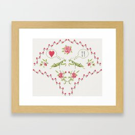 The mantis girl is hungry of love Framed Art Print