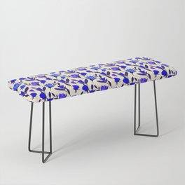 Rosebud Print - Cobalt Blue Bench