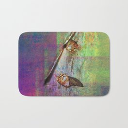 cats in courtship Bath Mat