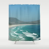 south africa Shower Curtains featuring Cape of Good hope to south Africa by Tanja Riedel