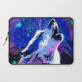 WOLF MOON AND SHOOTING STARS Laptop Sleeve
