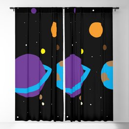 Colorful Galaxy - Space Filled With Stars and Planets Blackout Curtain