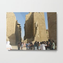 Temple of Karnak at Egypt, no. 5 Metal Print