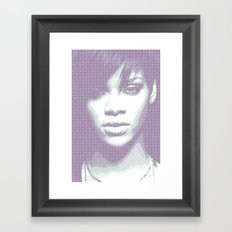 Rihanna - Engraving Framed Art Print