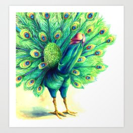 Peacock  falo real Art Print