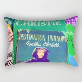 Destination Unknown - Vintage Agatha Christie Rectangular Pillow