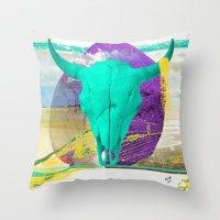 brasil Throw Pillows featuring Nordeste - Brasil by Friedrich Santana
