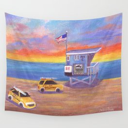 Redondo Beach Lifeguard Tower Wall Tapestry